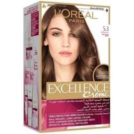 L'Oreal Paris Excellence Crème Hair Color - 5.3 Golden Light Brown