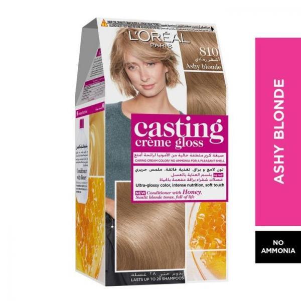 L'Oreal Paris Casting Crème Gloss Hair Color - 810 Ashy Blonde