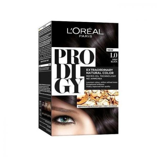 L'Oreal Paris Prodigy Ammonia Free Hair Color - 1.0 Noir
