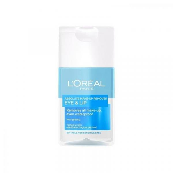 L'Oreal Paris Lips & Face Waterproof Alcohol Make Up Remover - 125ml