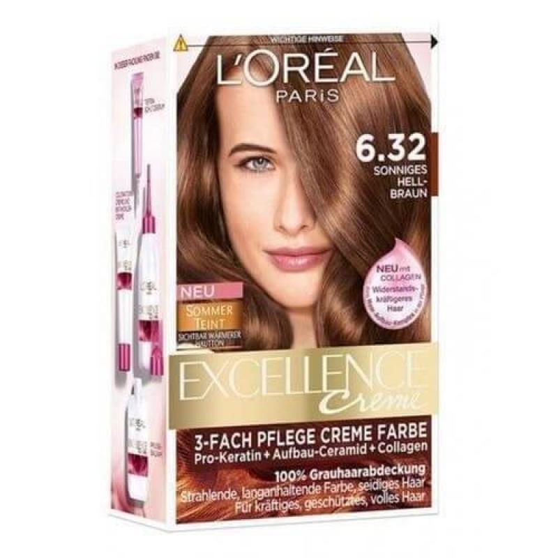 L'Oreal Paris Excellence Crème Hair Color - 6.32 Solar Light Brown