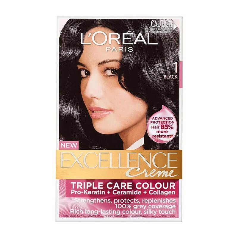 L'Oreal Paris Excellence Crème Hair Color - 1 Black
