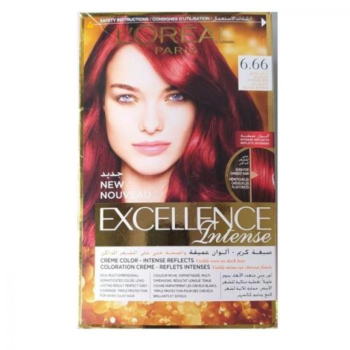 L'Oreal Paris Excellence Crème Intense Hair Color - 6.66 Intense Red