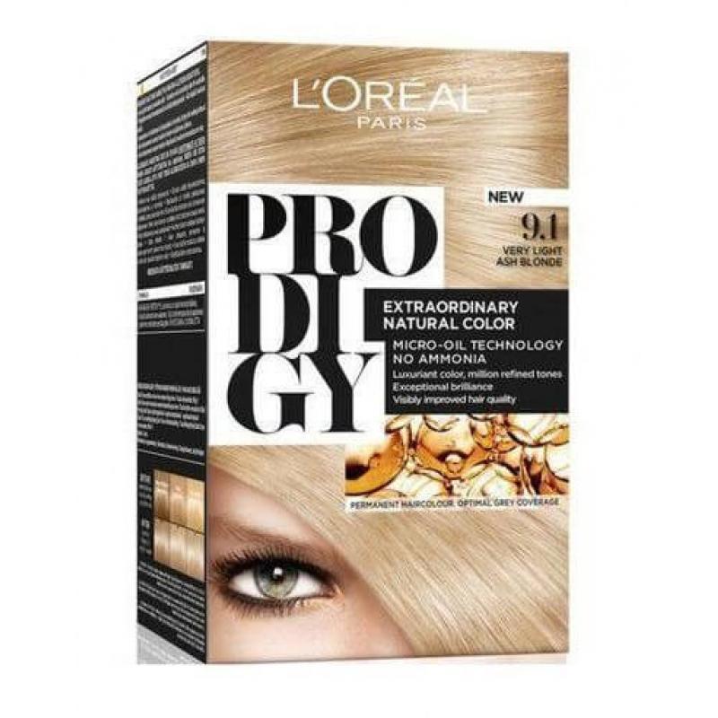 L'Oreal Paris Prodigy Ammonia Free Hair Color - 9.1 Very Light Ash Blonde