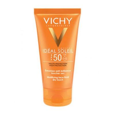Vichy Ideal Soleil Mattifying Dry Touch Face Fluid For Combination To Oily Skin -Spf 50- 50 ml