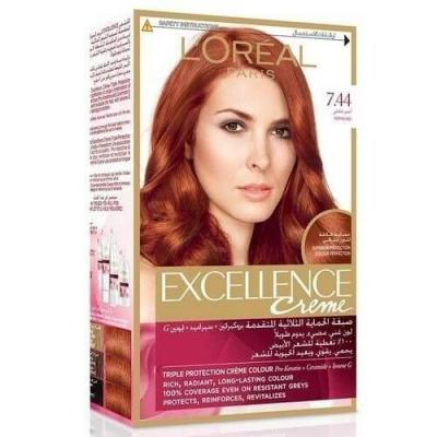 L'Oreal Paris Excellence Crème Reds Hair Color - 7.44 Pepper Red