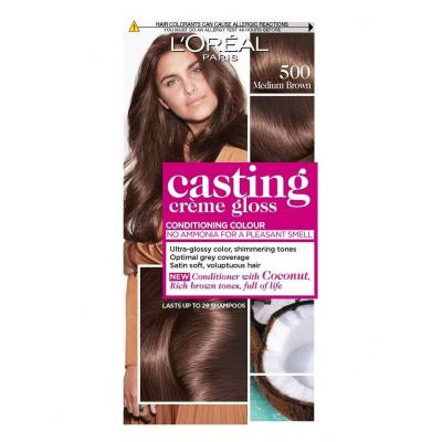 L'Oreal Paris Casting Crème Gloss Hair Color - 500 Light Brown