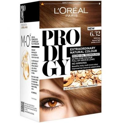 L'Oreal Paris Prodigy Hair Color - 6.32 Pearl Brown / Dark Golden Blonde