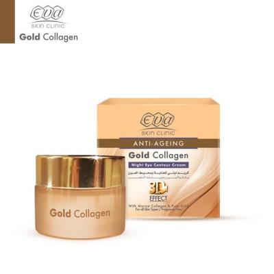 Eva Skin Clinic Gold Collagen Night Eye Contour Cream - 24K 15ml