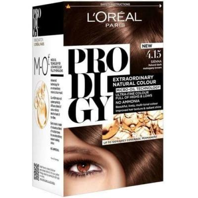 L'Oreal Paris Prodigy Ammonia Free Hair Color - 4.15 FrostedBrown