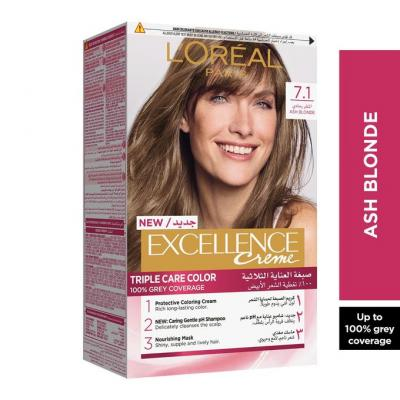 L'Oreal Paris Excellence Crème Hair Color - 7.1 Ash Blonde