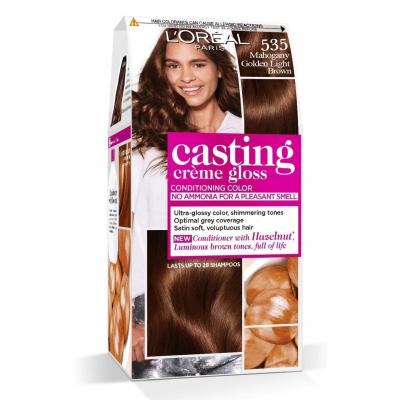 L'Oreal Paris Casting Crème Gloss Hair Color - 535 Mahogany Golden Light Brown