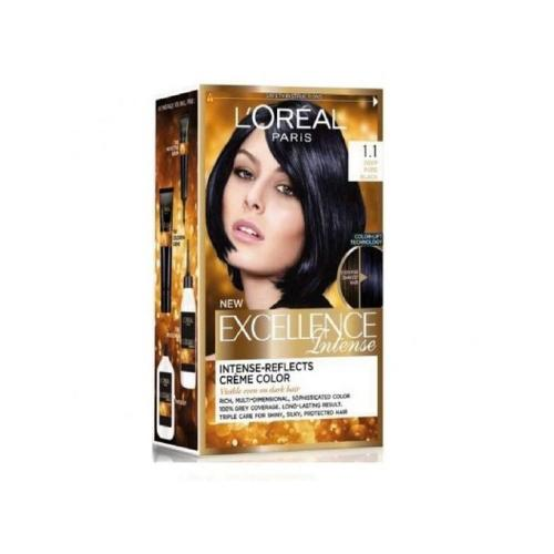L'Oreal Paris Excellence Crème Intense Hair Color - 1.1 Deep Pure Black