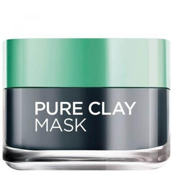 Pure Clay Black Face Mask With Charcoal Detoxifies And Clarifies 50ml