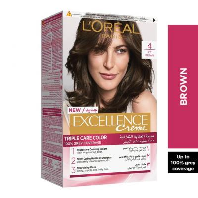 L'Oreal Paris Excellence Crème Hair Color - 4 Brown