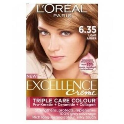 L'Oreal Paris Excellence Crème Hair Color - 6.35 Light Amber