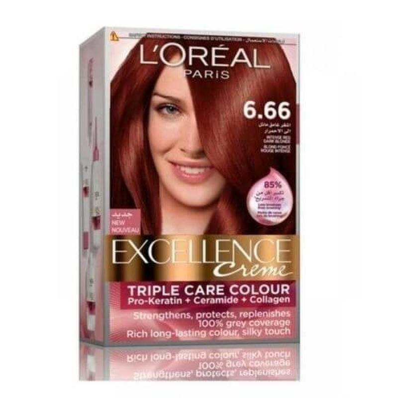 L'Oreal Paris Excellence Crème Hair Color - 6.66 Red Intense Ruby Red