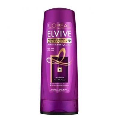 L'Oreal Paris Elvive Keratin Straight 72H Conditioner - 400ml