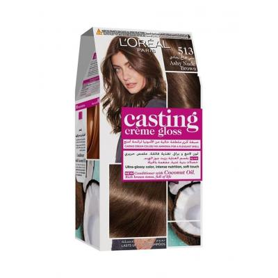 L'Oreal Paris Casting Creme Gloss Hair Color - 513 Ashy Nude Brown