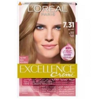 L'Oreal Paris Excellence Crème Hair Color - 7.31 Beige Blond