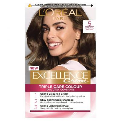 L'Oreal Paris Excellence Crème Hair Color - 5 Light Brown